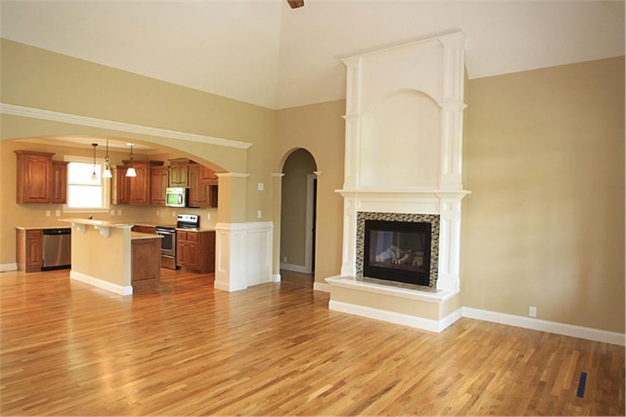Open floor plan Great Room in House Plan #141-1259