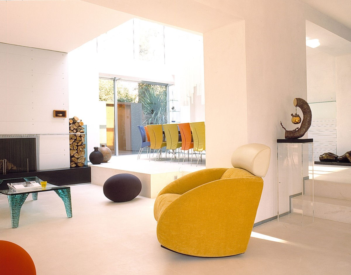 Living area in VXO House  1960s family house renovated by Alison Brooks in Hampstead, UK