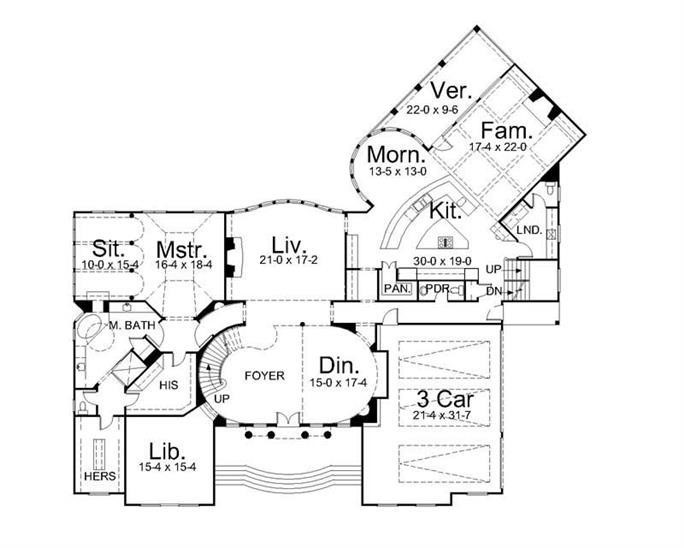 Floor plan of house plan #161-1189