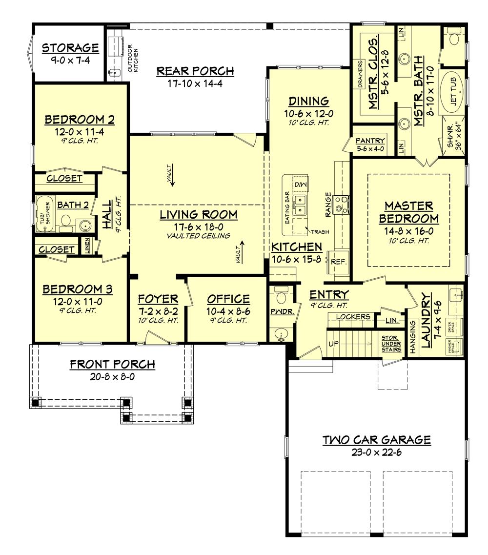 Floor plan for House Plan #142-1158