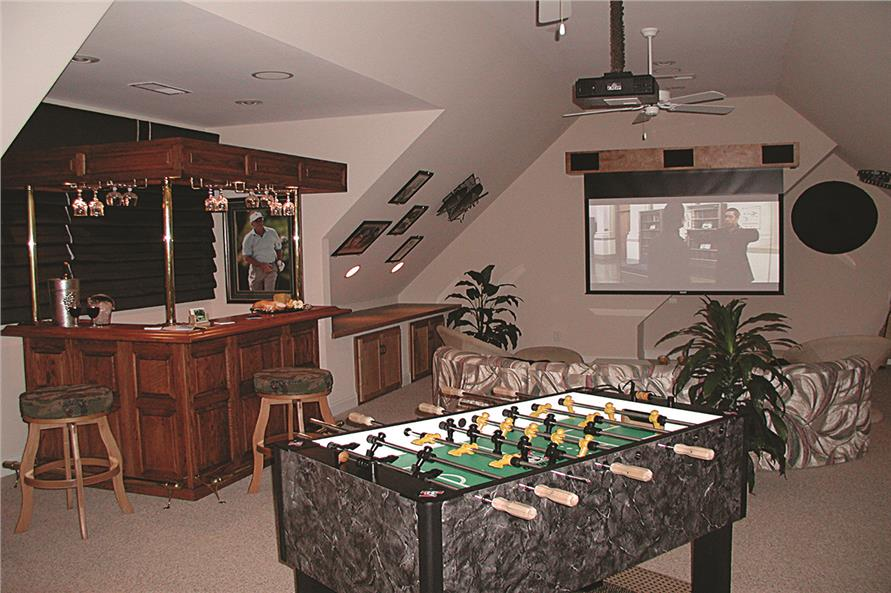 Game room in House Plan #180-1020