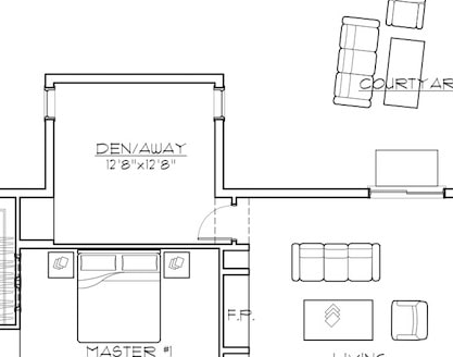 The ideal zen den  located right off the open floor plan area of the living/dining/kitchen