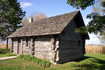 This Structure Is A Replica Of The Circa 1870 One Room Log Cabin In Kansas  Where The Ingalls Family (Little House On The Prairie) Lived For A Year  Before ...