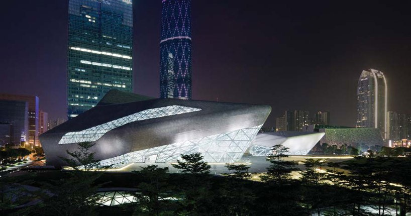 Guangzhou (China) Opera House, designed by Zaha Hadid