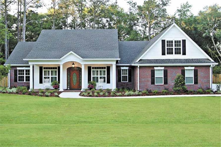 Simple roof design of Country Ranch House Plan #109-1184