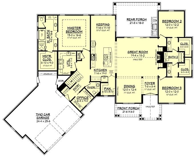 Florr plan for house plan #142-1186