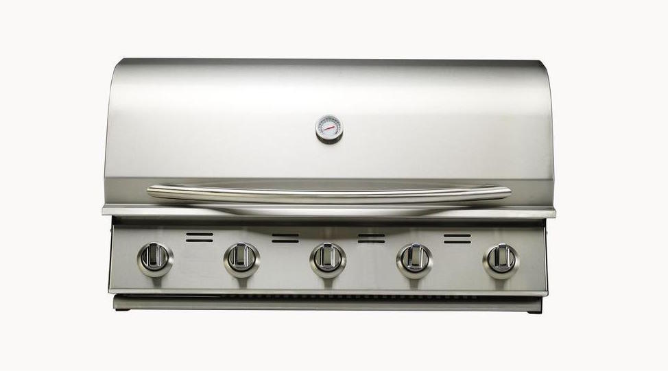 Stainless-steel drop-in grill for outdoor kitchen