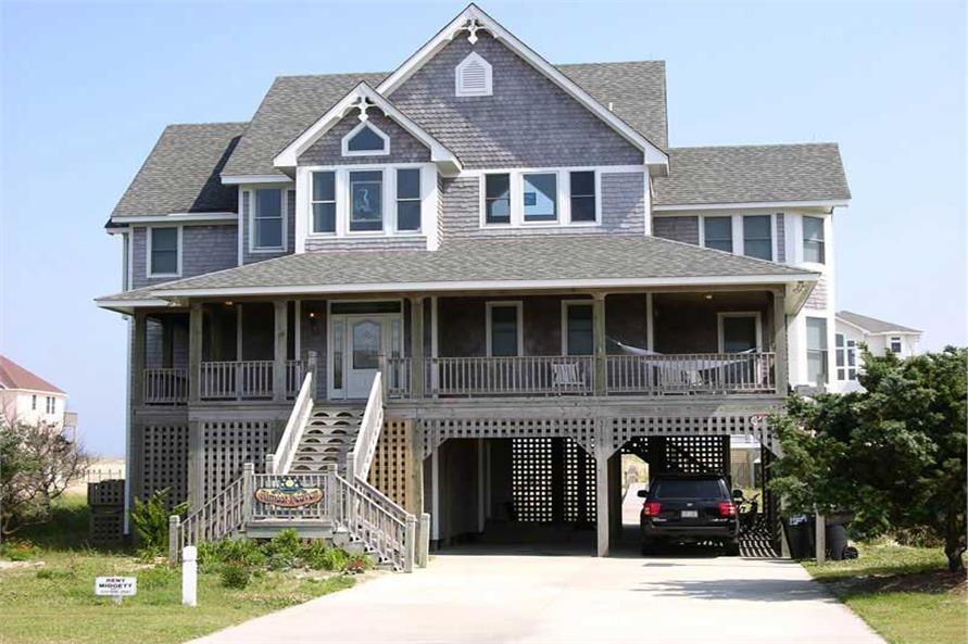 Beachfront House Plan #130-1083