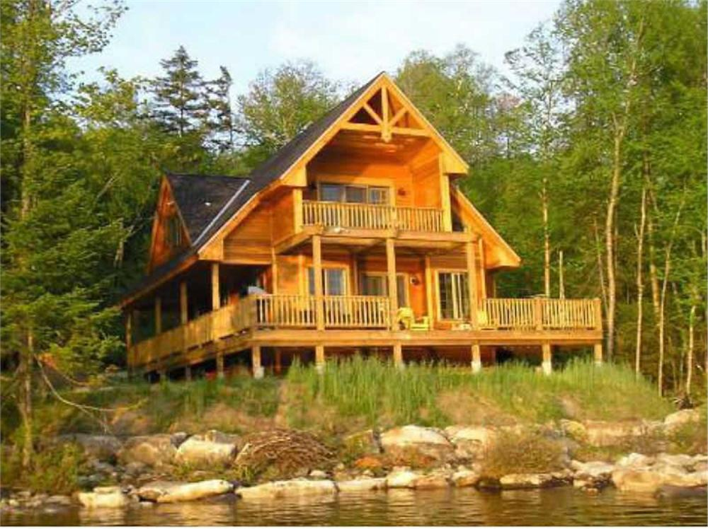 Dramatic vacation style home on a lake-view wooded lot