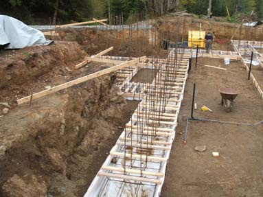 Getting started with laying the foundation.