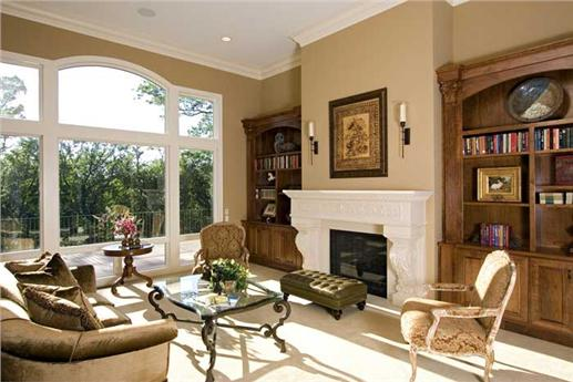 two story european style home includes a formal living room