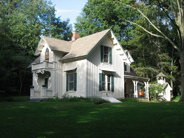 Aaron Ferrey House in Kent, Ohio, an example of Carpenter Gothic style
