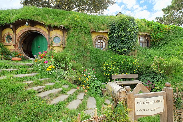 "A Hobbit house, part of the set of ""The Lord of the Rings"" in New Zealand"