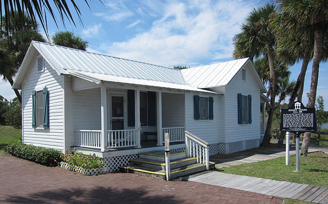 Bensen House in Florida, a famous example of the Cracker style house