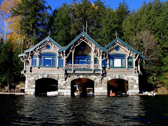 Boathouse 2 at Topridge camp in the Adirondacks