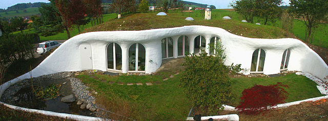 Earth-sheltered home in Switzerland