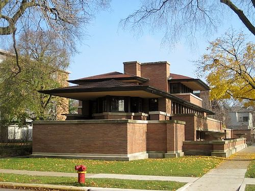 Frank Lloyd Wright's Frederick C. Robie house in Chicago