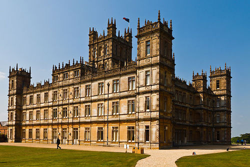 Highclere Castle, used for exterior and interiors in filming Downton Abbey