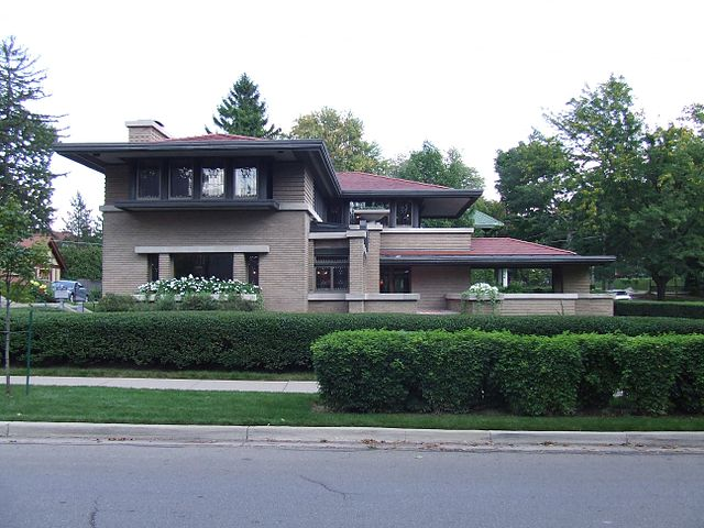 Built in 1909, Frank Lloyd Wright-designed house in Grand Rapids MI