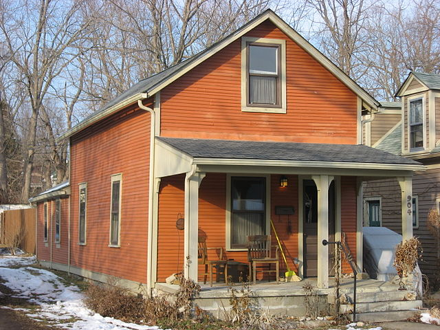 Typical Single Shotgun Style home from Bloomington, Indiana