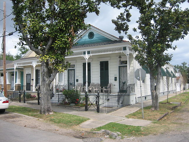 Double shotgun house in New Orleans