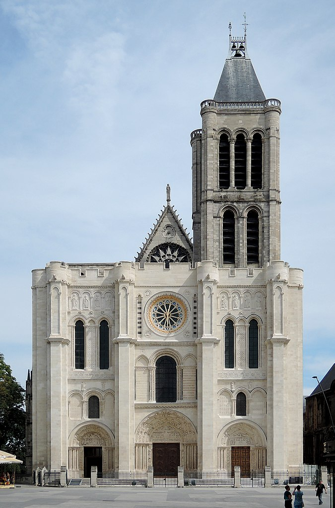 Basilica of St.-Denis, the abbey church of St.-Denis, France in 2015