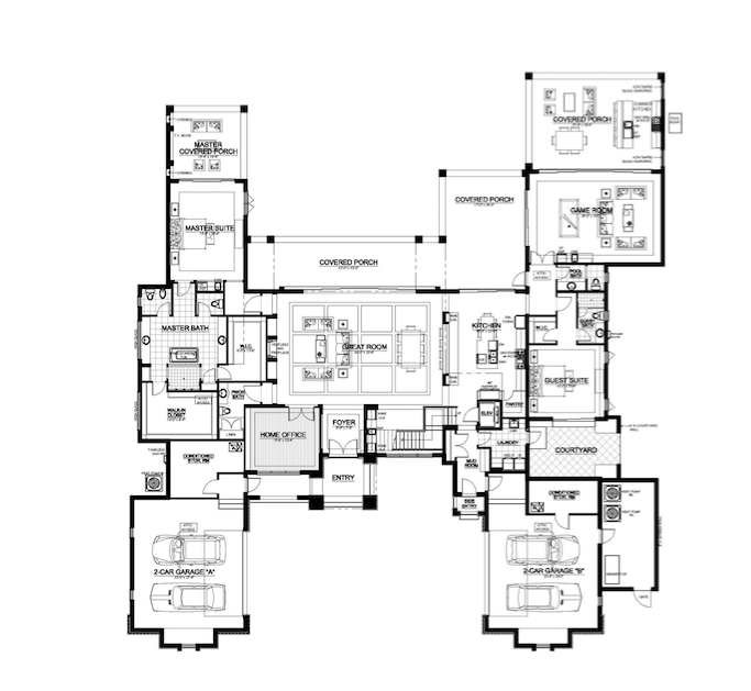 Floor plan of The New American Home 2018
