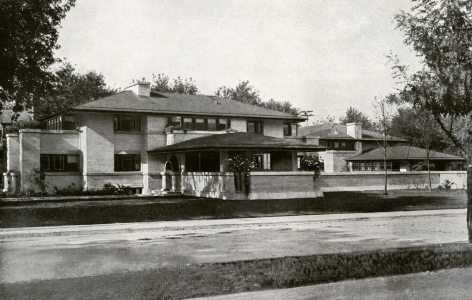 Francis W. Little house designed by Frank Lloyd Wright
