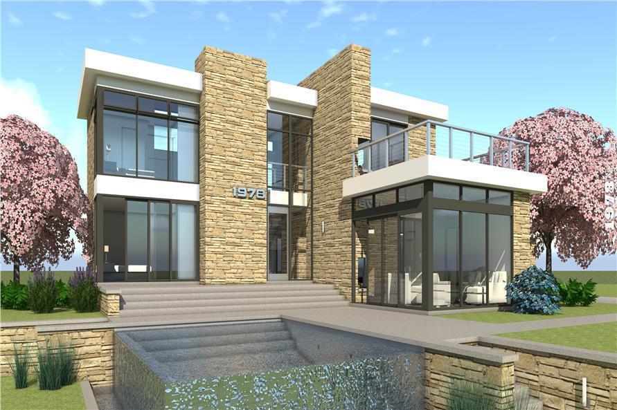 2 Story Mid Century Modern House Plans - Modern House