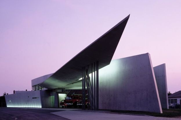 Vitra Fire Station in Weil am Rhein in Germany, designed by Zaha Hadid