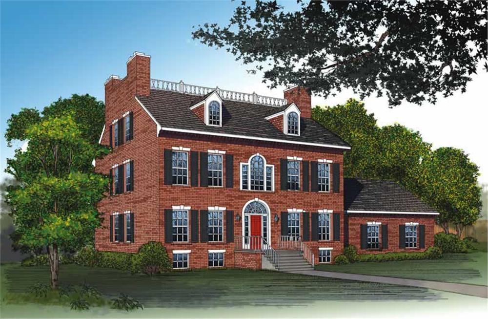 Georgian style House Plan #137-1542