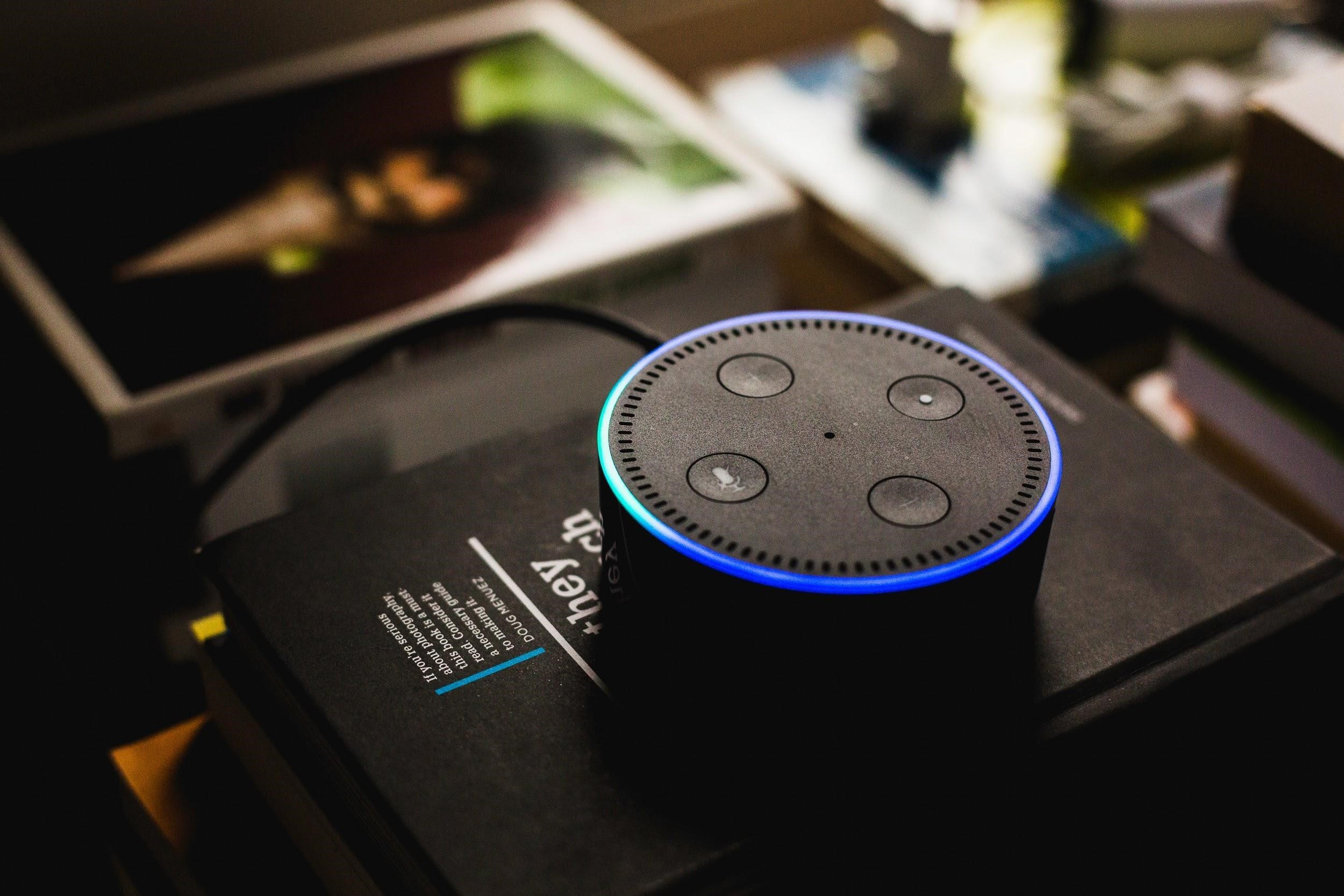 Amazon Echo Dot, which supports the smart Alexa app