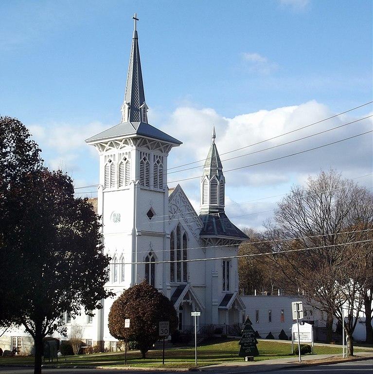 Methodist church in Mt. Kisco, New York, build in the Carpenter Gothic style