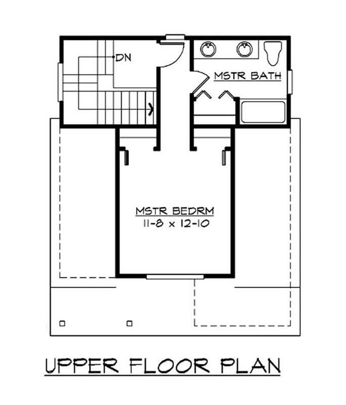 Upper level floor plan of Plan #115-1371