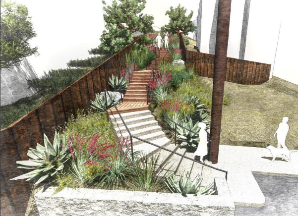 Example of Eric Arenson's landscape design work from Instagram
