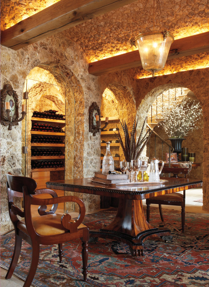 Wine cellar in Mesa Vista, Pampa, Texas