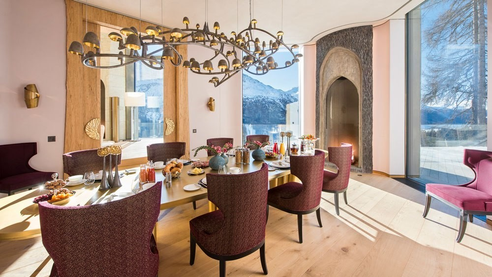 Formal dining room with amazing views