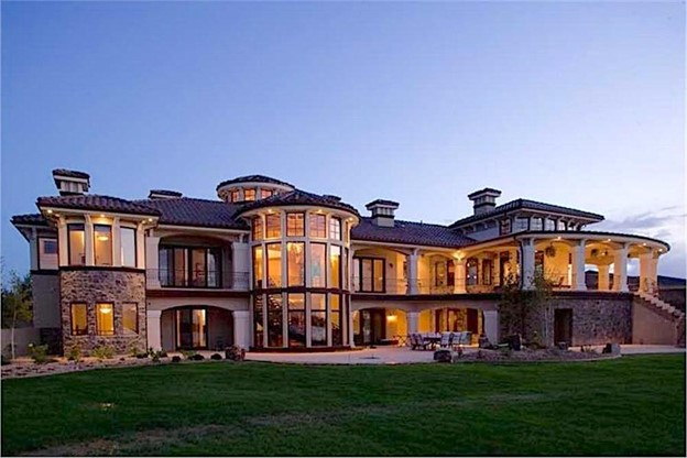 Magnificent Luxury Mediterranean home with Tuscan detailing and lots of glass perfect for a view building lot