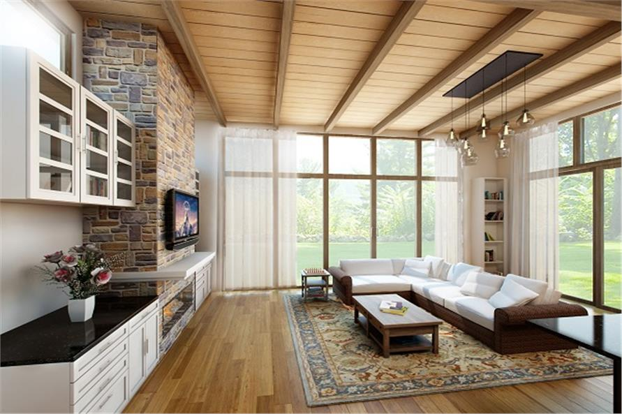 Great Room of House Plan #149-1837