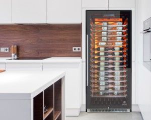 Wine cooler from Vinotemp holds up to 188 bottles of wine