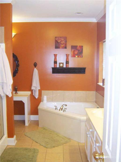 Bathroom made over with brighter colors and better lighting