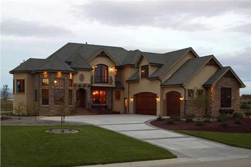 Luxury traditional style house plan with plenty of curb appeal.