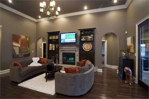 Great room with fireplace and access to the grilling porch