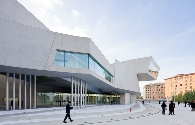 MAXXI Museum of Contemporary Art and Architecture in Rome, designed by Zaha Hadid