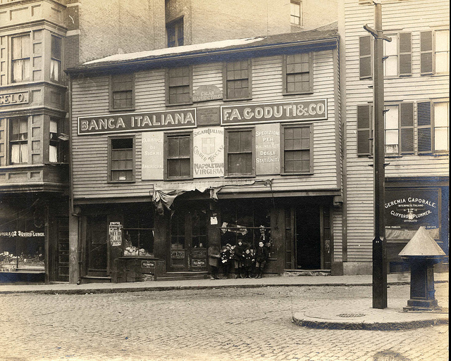 Paul Revere House as it looked during the mid 1800s