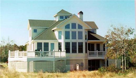 Wonderful beachfront home with lots of windows to take in the view