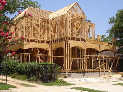 Framing is well underway for this two story luxury home.