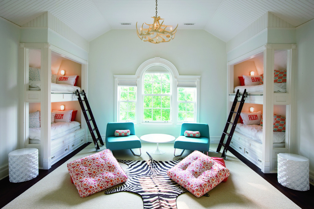 inviting, bright, airy bunk beds