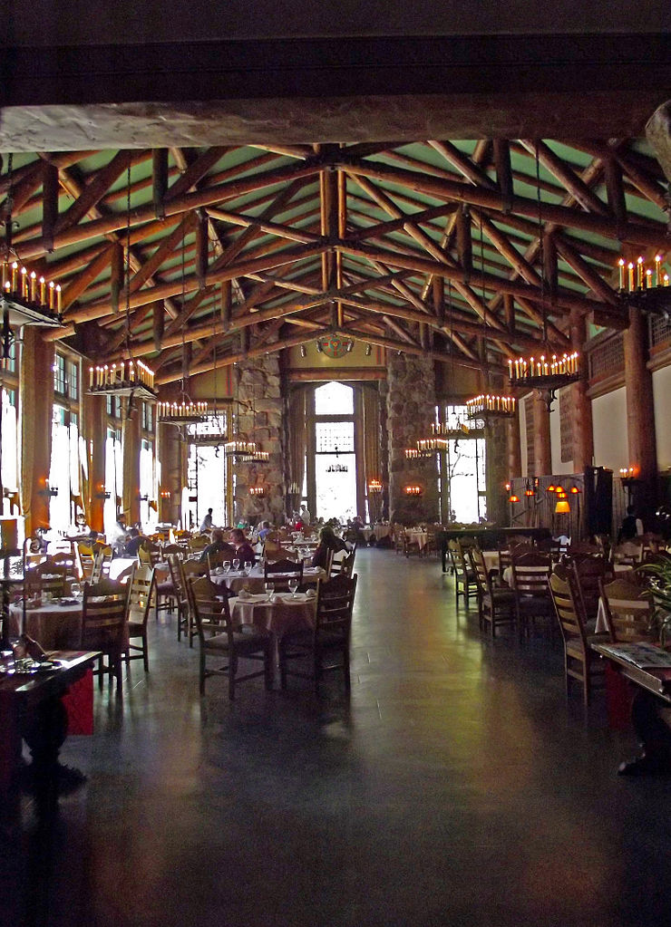 Dining Room in Ahwahnee Hotel, Yosemite National Park