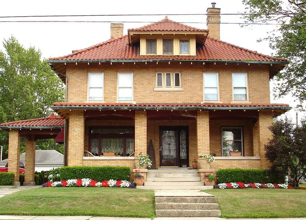Classic American Foursquare home
